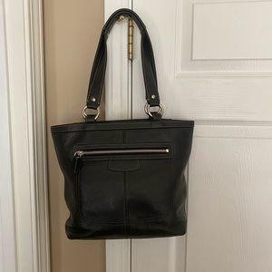 Coach Hampton Black Leather medium shoulder bag